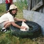 On a farm field trip